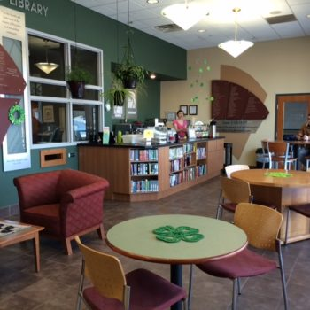 Photo of a library cafe