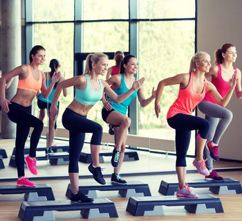 Women in an exercise class